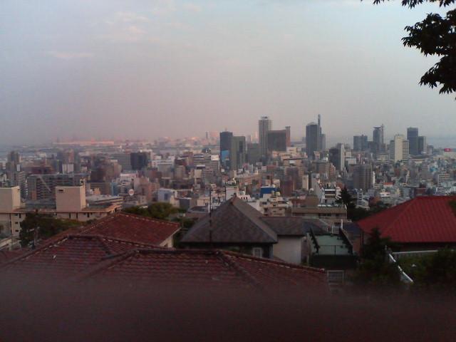 港みはらし台から見た神戸